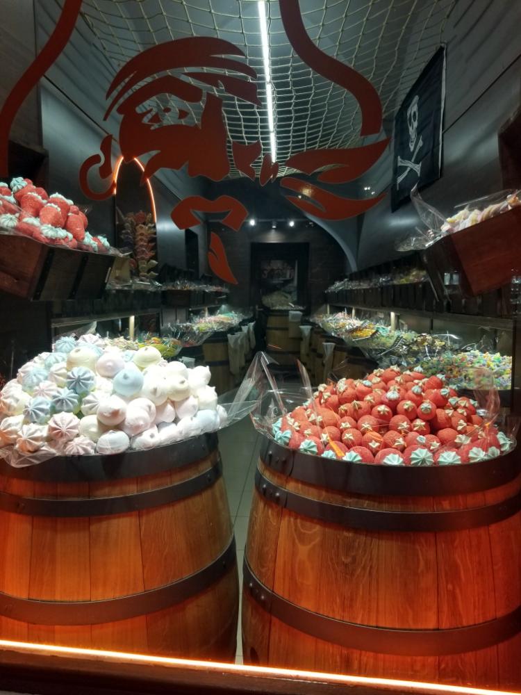 Barrels of candy in Prague