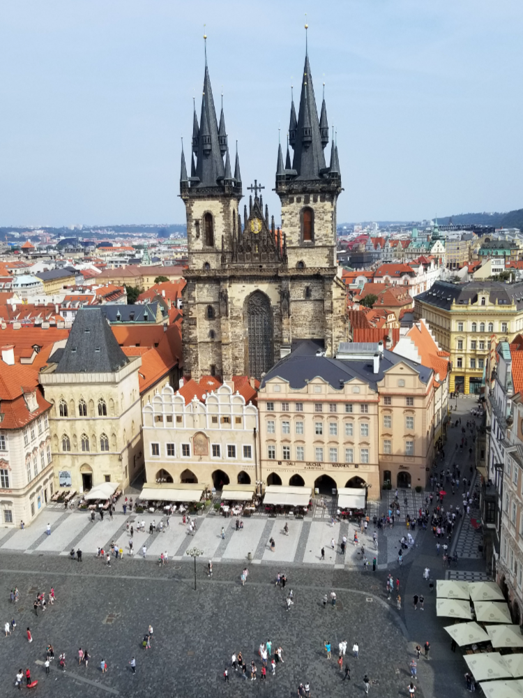 View from the Prague Astronomical Clock