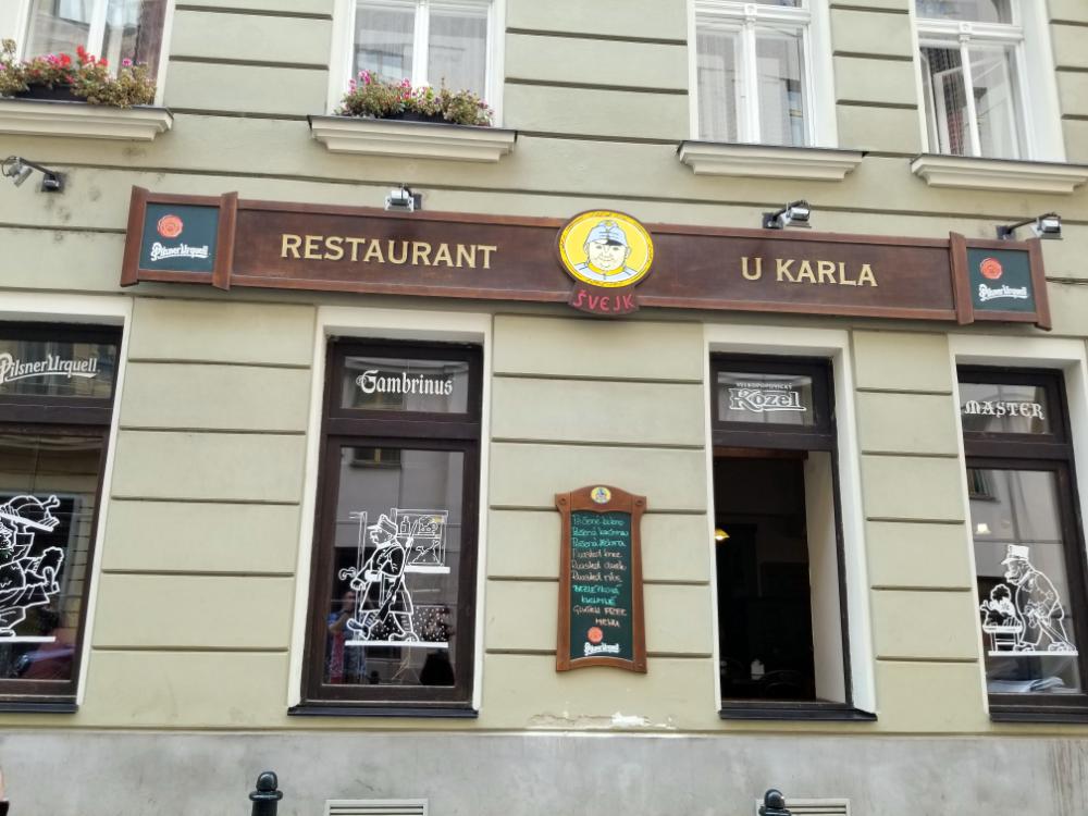 Švejk Restaurant U Karla, Prague