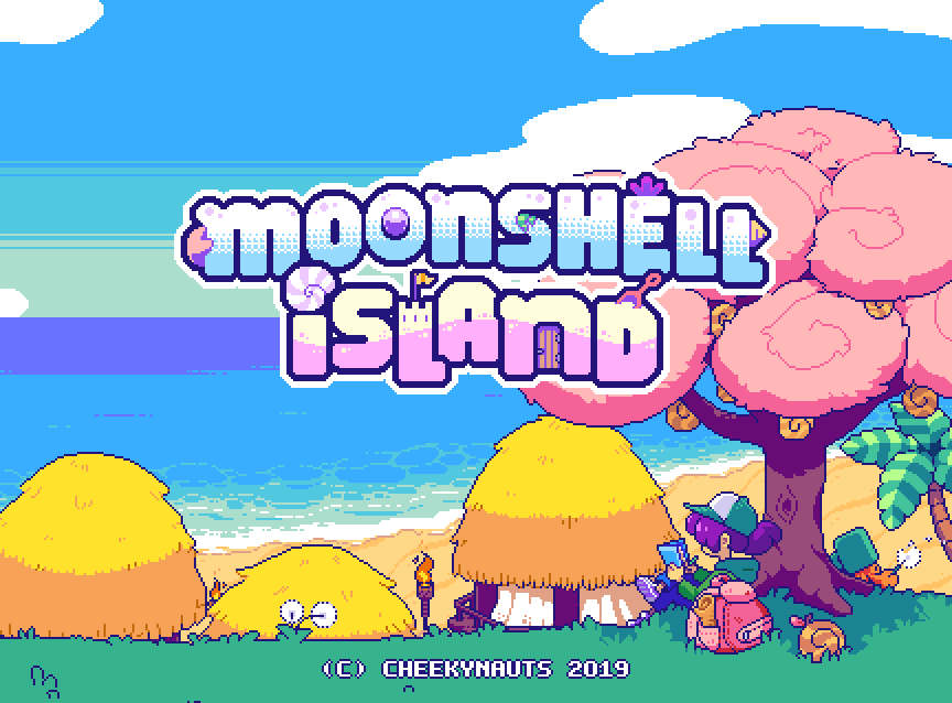 Moonshell Island Title Screen