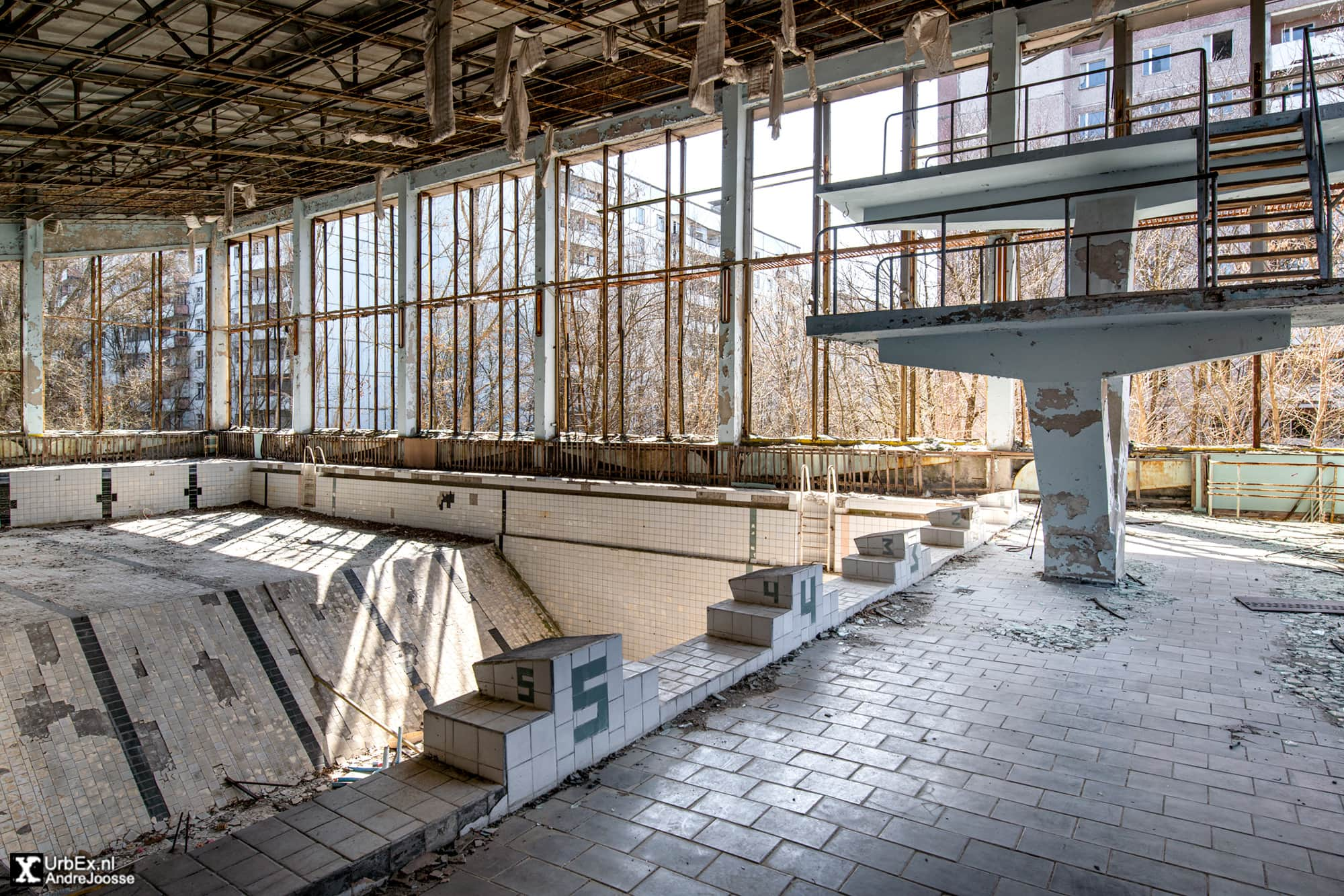 Pripyat Swimming Pool Azure Chernobyl 35 Years Later