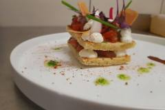 Brushetta chèvre/tomates/basilic
