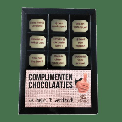 Complimenten chocolaatjes