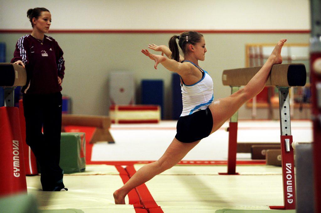 Veronica Wagner *** Local Caption *** Veronica Wagner kan träna gymnastik igen efter knäskadan.