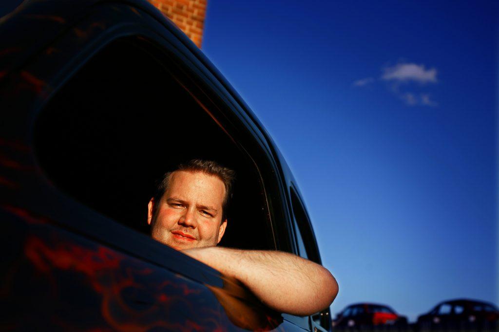 JIMMY KYRK *** Local Caption *** Onsdagsträffar hos Nåkab med mat och fika- amerikanska bilar,mc och andra fordon