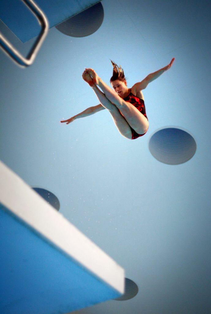 Elina Eggers *** Local Caption *** Elina Eggers, snart 20 , ska tävla i höga hopp i VM i Melbourne.