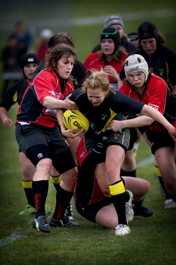 Elisabeth Ygge (nr 8)  *** Local Caption *** Elisabeth Ygge (nr 8) spelar EM i rugby på hemmaplan.