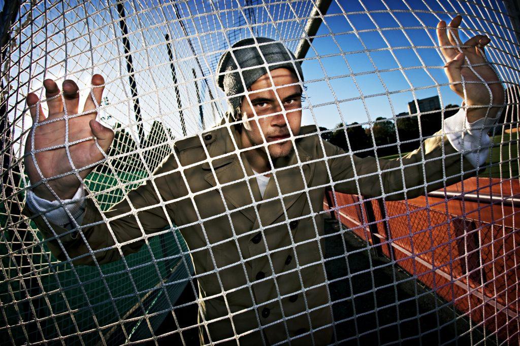 Tomi Waiho   *** Local Caption ***  Vinkel: Tomi Waiho i Vasalunds mål är nyckelspelare när laget kämpar för sin existens i superettan