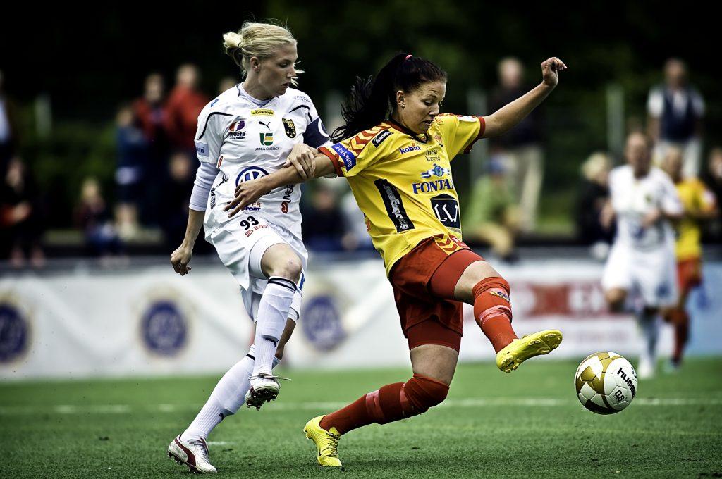 Jennifer Egelryd. *** Local Caption *** Tyresö FF:s damer möter Umeå i fotbollsallsvenskan. Vi följer Jennifer Egelryd.