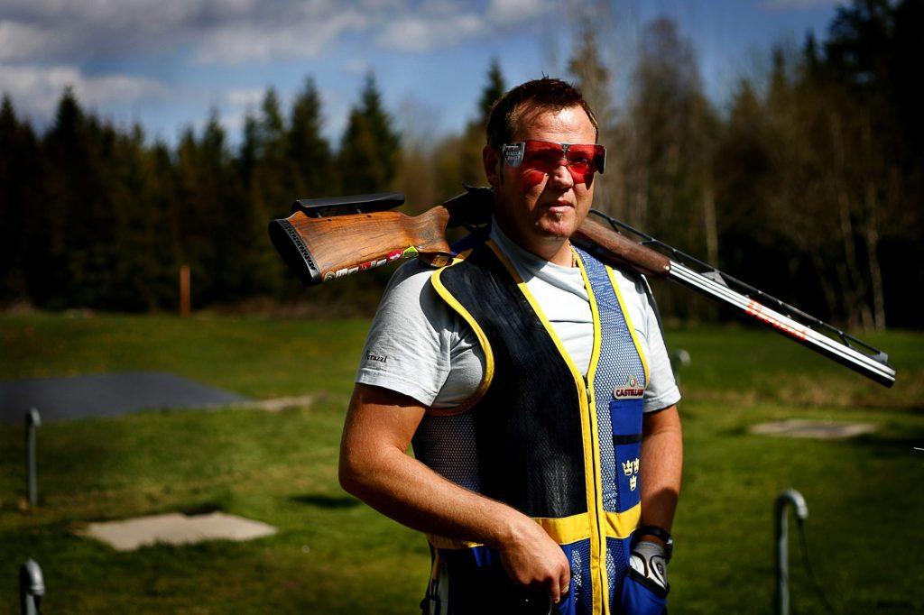 Håkan Dalby *** Local Caption *** Håkan Dalby är världsetta i dubbeltrap-levduveskytte