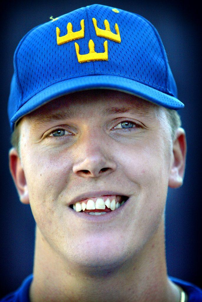 Johan RTisell kom med i VM-rruppen. I dag gör han sists rehab-träningen på Bosön,Lidingö *** Local Caption *** Baseboll