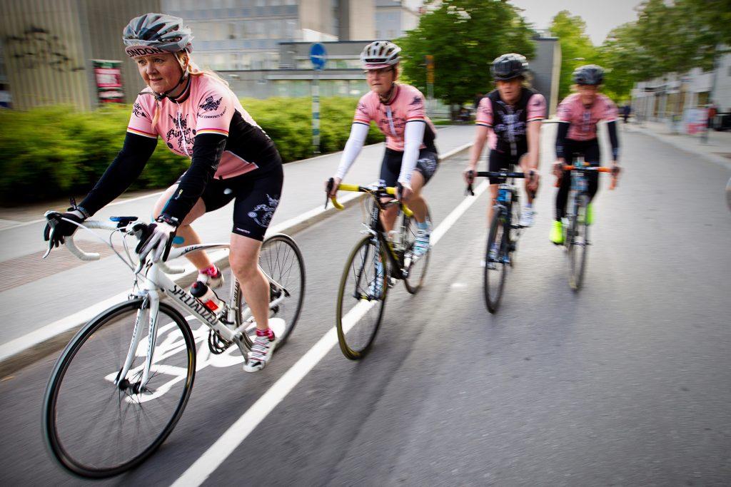 Vinkel: Bimbo-Bikers är ett nätverk för kvinnliga cyklister.