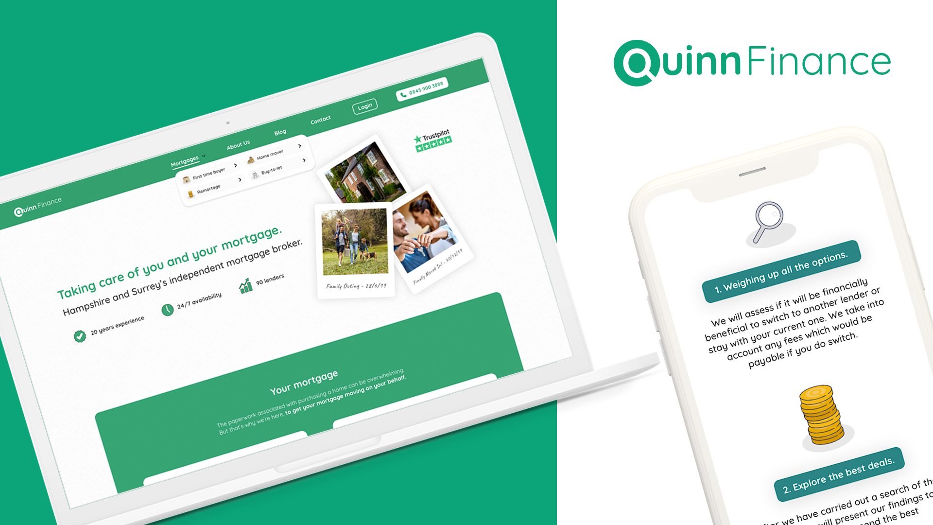Quinn Finance Website