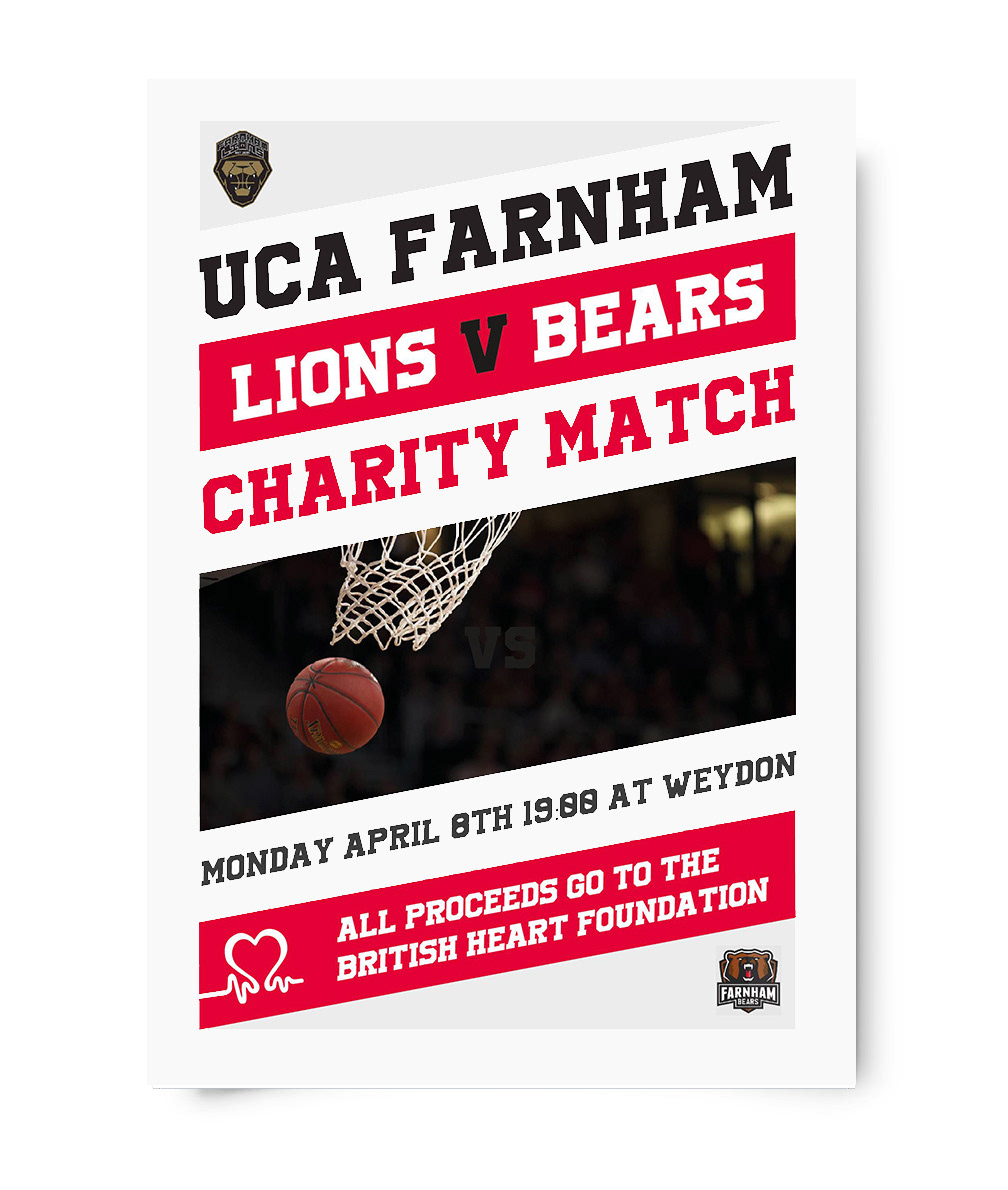 UCA Farnham Basketball Poster