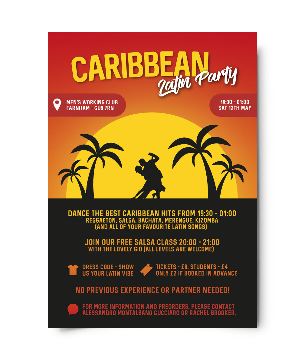 Caribbean Latin Party Poster