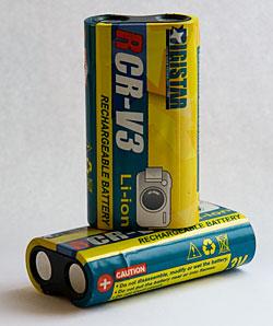 RCR-V3 batterier