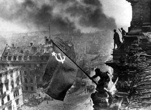 Soviet flag over the Reichstag