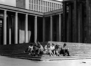 Moskva, Leninbiblioteket, foråret 1982