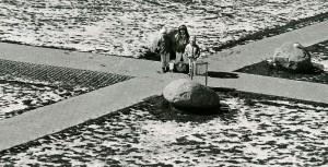 Childrenin Mjølnerparken, a housing area in Copenhagen, late1980's.