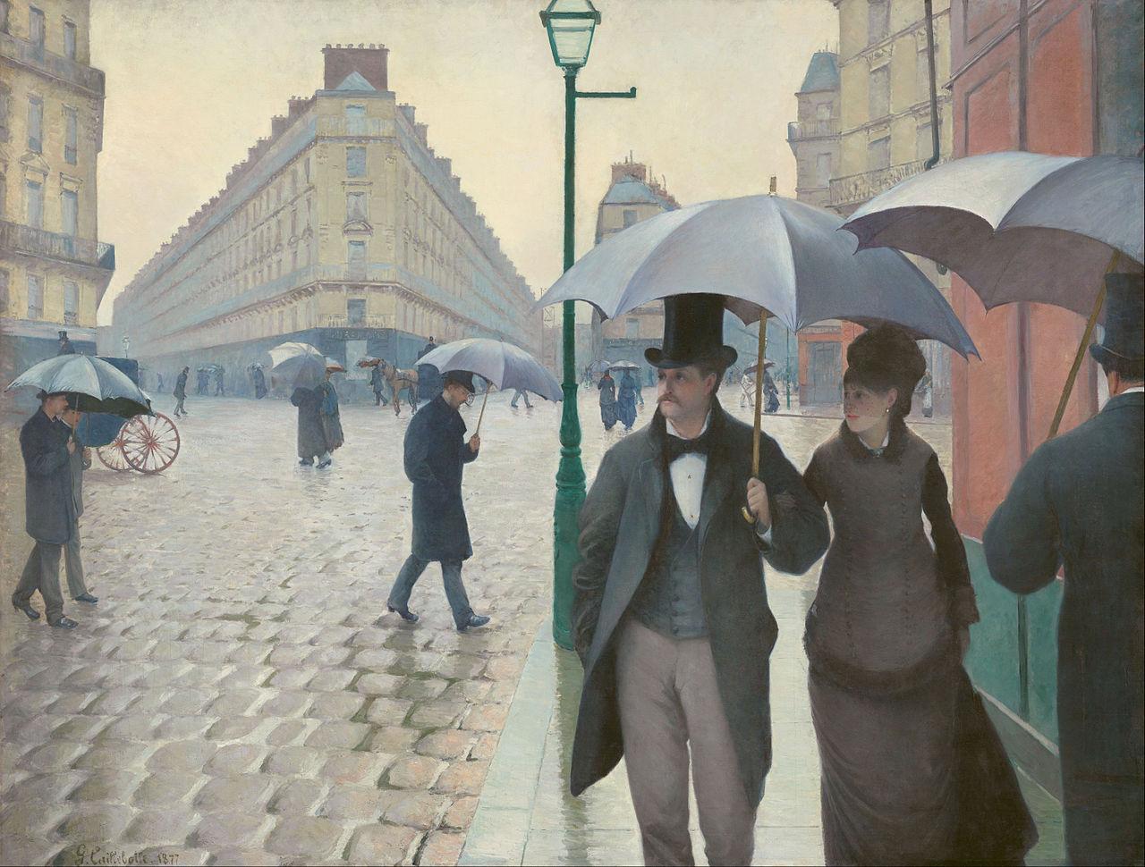 Caillebotte: Rue de Paris, temps de pluie