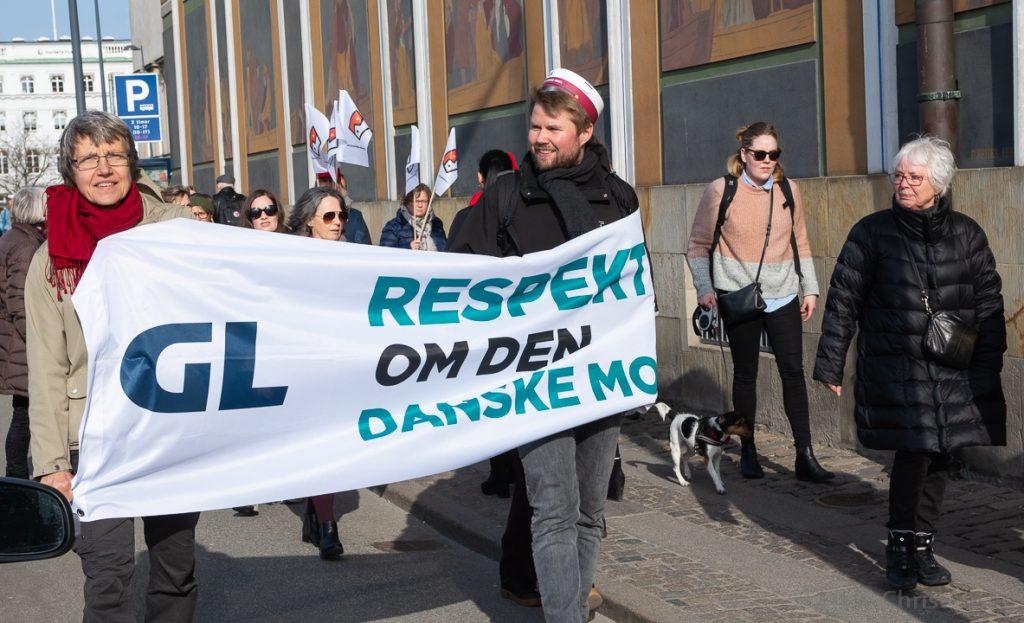 """Offentligt ansatte kræver """"Respekt om den danske model"""" ved overenskomstforhandlingerne 2018. Foto: Lars K. Christensen"""