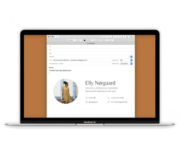Eksempel af e-mail signatur i mail