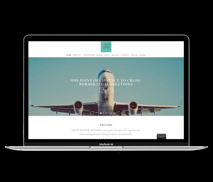 LegalMasterAdvisor hjemmeside design