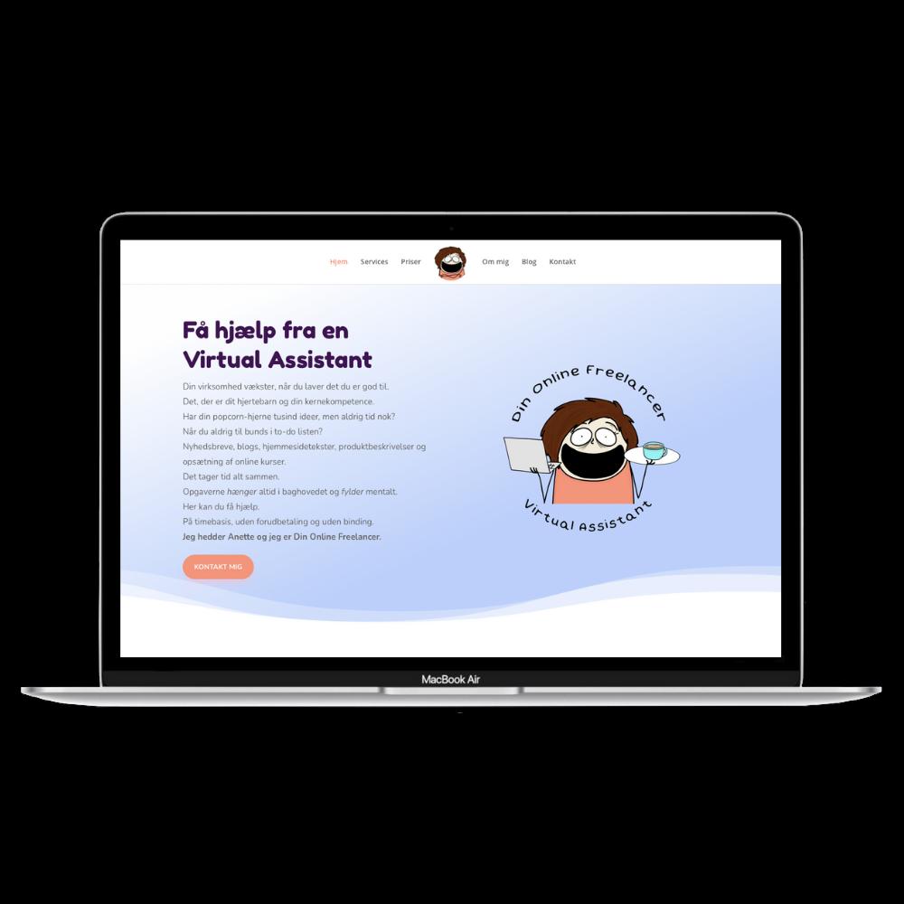 DIn Online Freelancer Hjemmeside