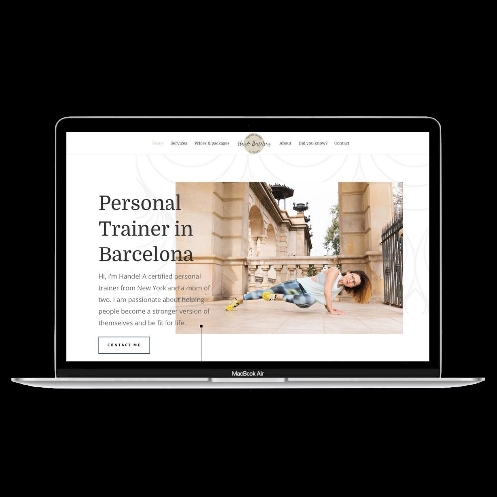 Hande Bertelsen branding website