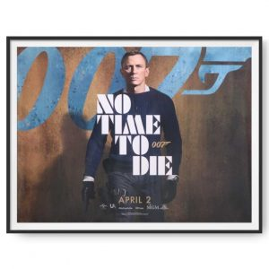 No Time To Die (2021) UK Quad Poster (April 20 Release)