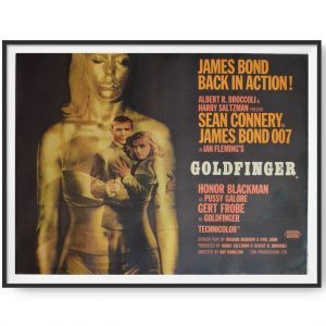 James Bond: Goldfinger (1965) Original UK Quad Poster