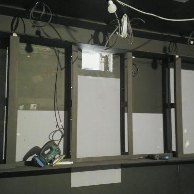 Structure du mur arrière