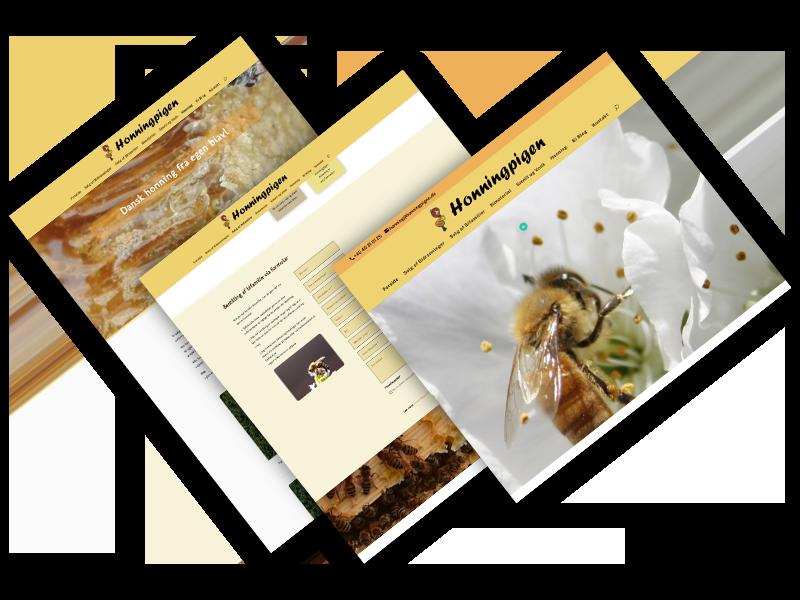 Circle Design webdesign af honningpigen.dk