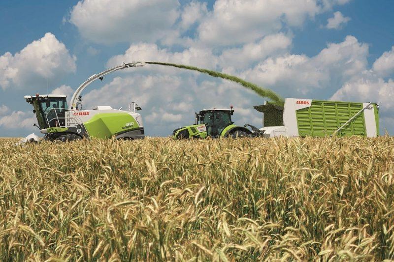 Agriculture machine in a field.