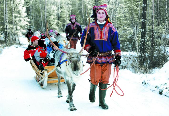 Reindeer Sleigh Ride in Lapland