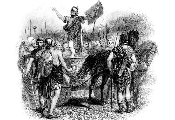 Calgacus speaking to the Caledonians