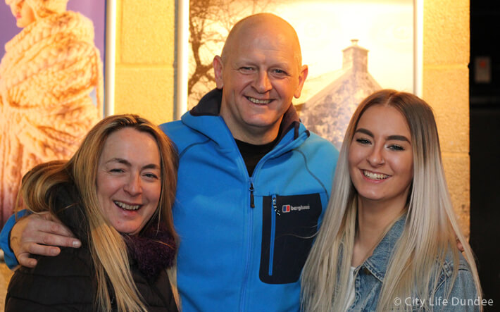 Gary with Sue and Eilidh