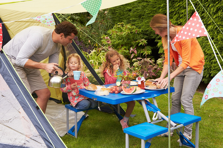 Back garden camping this Easter