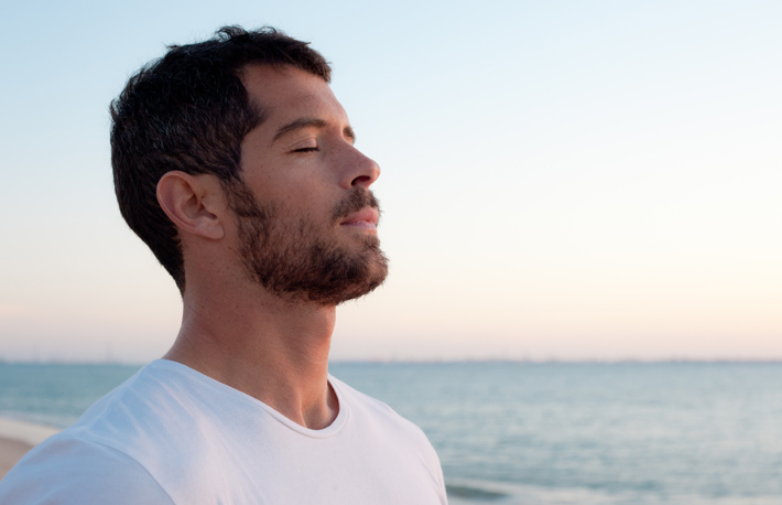 deep breathing for calmness
