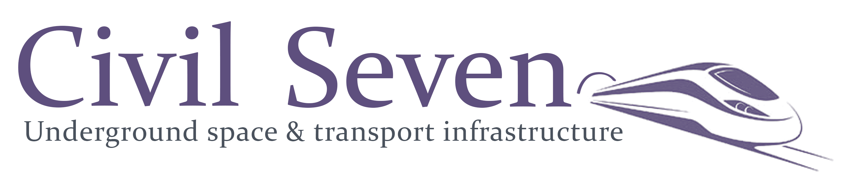 Cviil7 Logo Just diehard text SEVEN with train