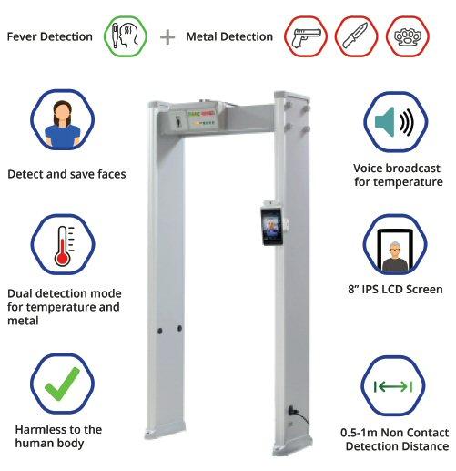walk through automatic temperature scanner