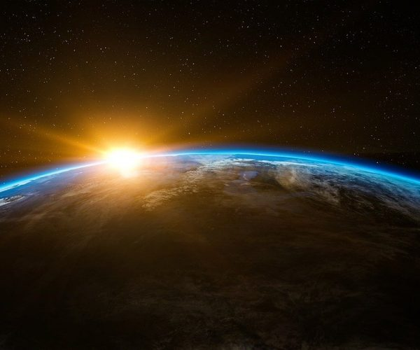 earth, space, sunlight