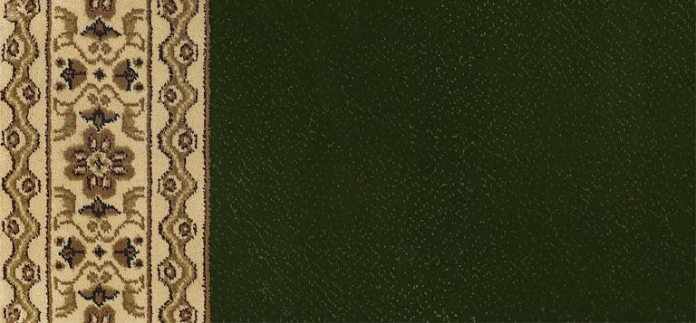 0612 Dark Green-Ivory