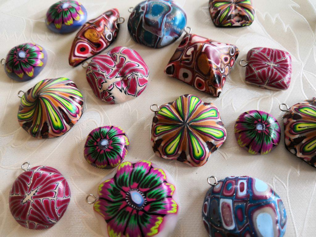 Fimo Anhänger, verschiedene Farben