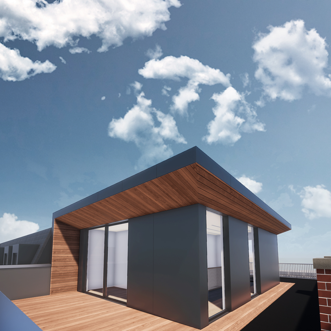 modern roof extension