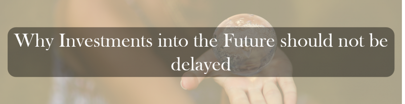 Why Investments into the Future should not be delayed