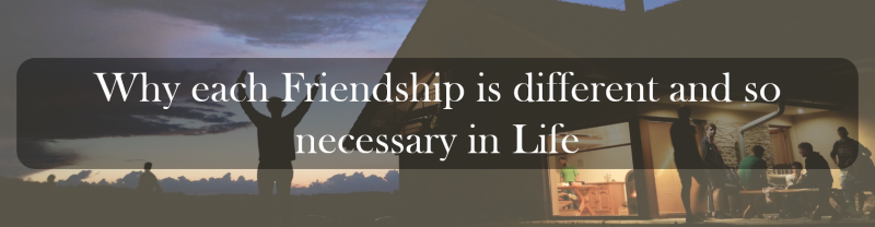 Why each Friendship is different and so necessary in Life.