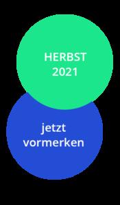 Ein blauer und ein grüner Kreis überlagert