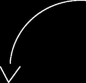 weißer Pfeil zeigt von rechts oben nach links unten