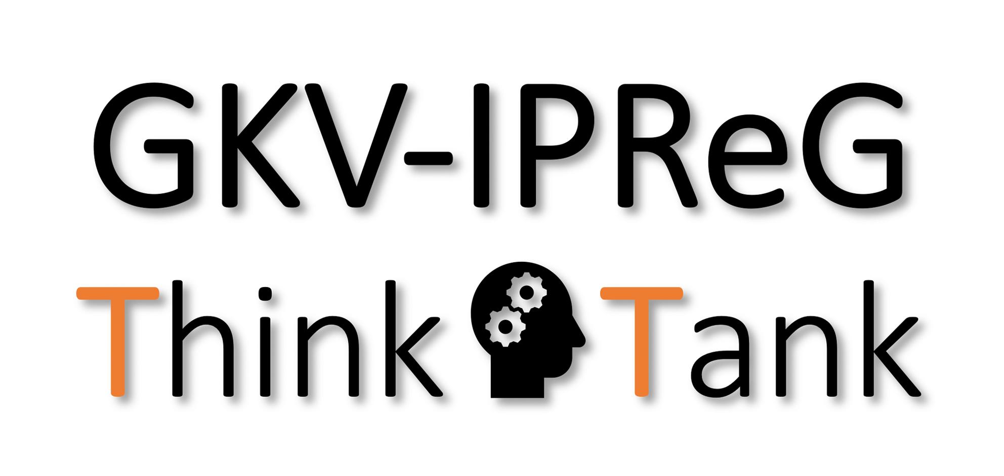 Das Logo des GKV-IPReG Think Tank als Schriftzug